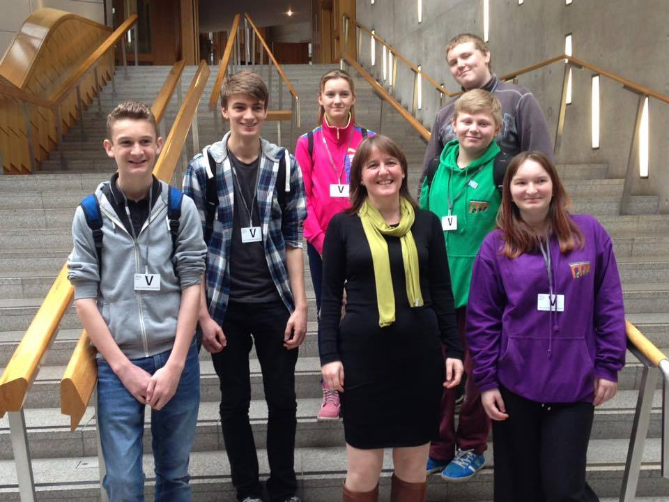 Members of Culloden Youth Forum meet Maree Todd MSP