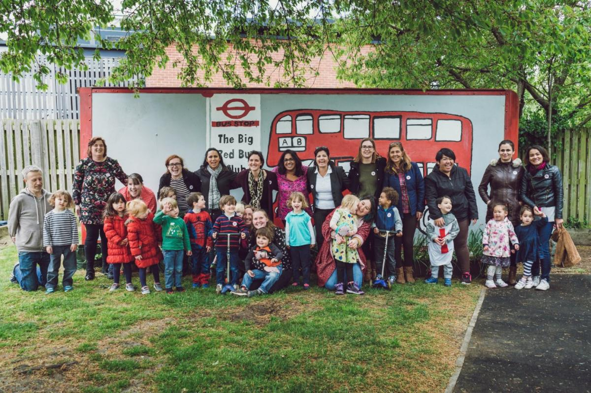 Big Red Bus Club, funded by People's Health Trust.